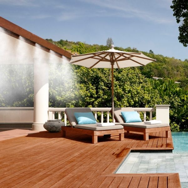 Pool Side Misting Fans : Best images about misting system on pinterest pump