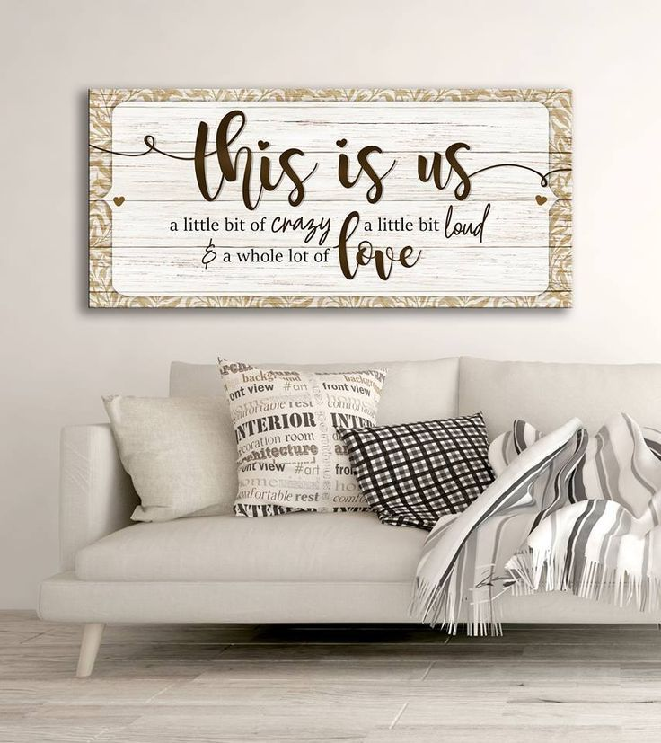 Family Wall Art: This Is Us A Little Bit Of Crazy (Wood