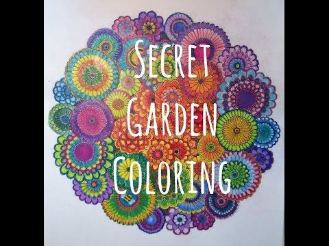 Secret Garden An Inky Treasure Hunt By Johanna Basford In This Video I Colored One Of The Pages From Coloring Book