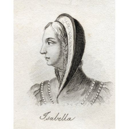 Isabella I Byname Isabella The Catholic Spanish Isabel La Catolica 1451- 1504 Queen Of Castile 1474-1504 And Of Aragon 1479-1504 From The Book Crabbs Historical Dictionary Published 1825 Canvas Art -