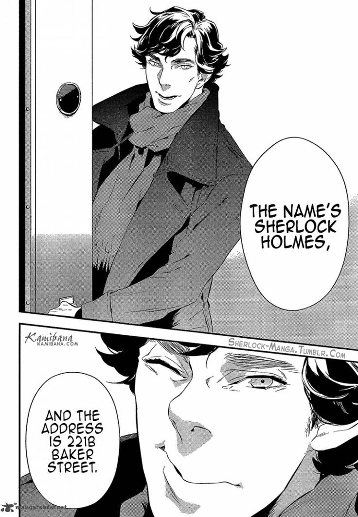 Oooh, Sherlock manga!! Even if you're not into manga go read it. The illustrations are perfectly spot-on.
