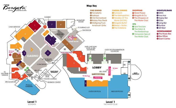 Excalibur casino floor map