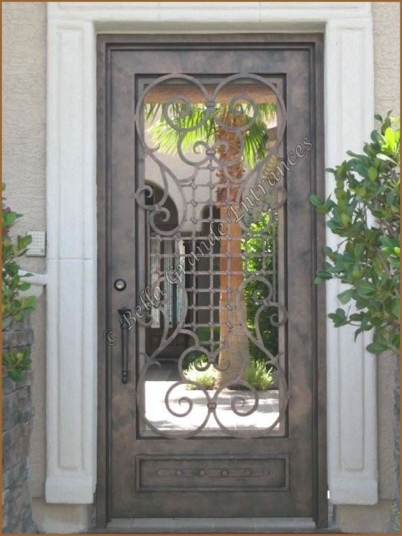 80 best wrought iron designs images on pinterest wrought for Decorative main door designs