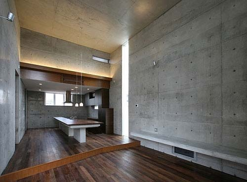 good mix of wood and concrete