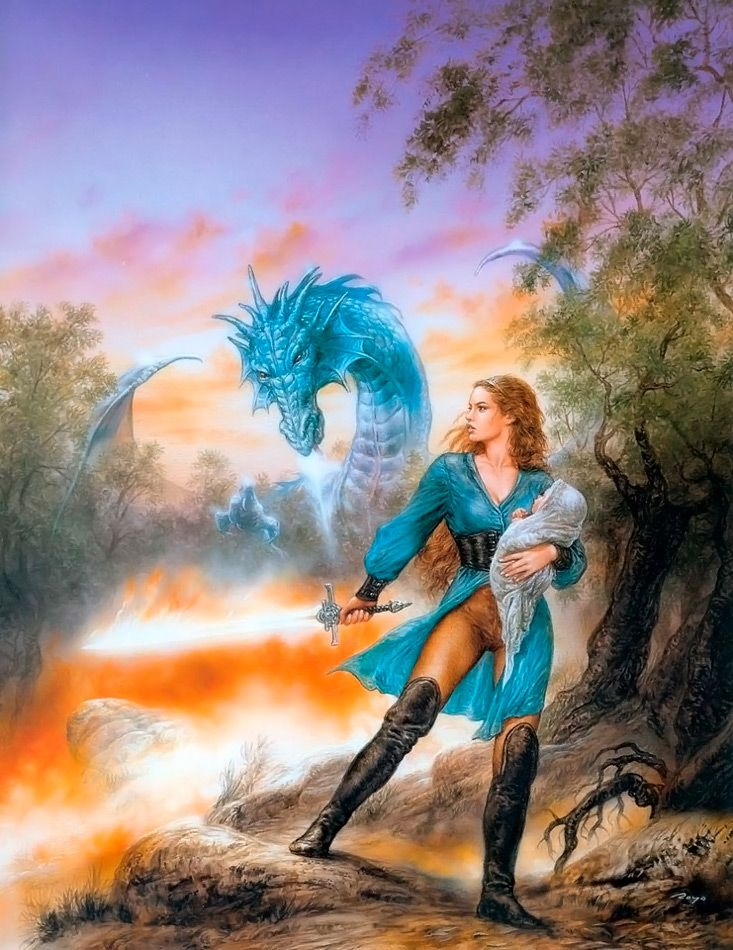 Dragón azul, de Luis Royo