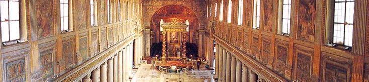 The Papal Basilica of Santa Maria Maggiore, Rome.  We heard a beautiful choir rehearsing in this church. Spent hours there.