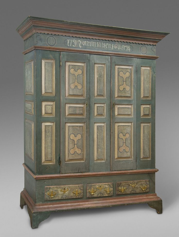 Good Wardrobe (Schrank) Artist/maker Unknown, American, Pennsylvania German 1794
