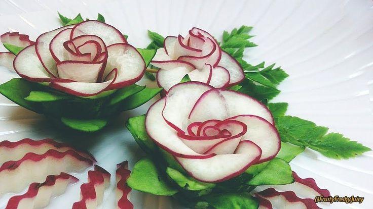 The Beauty Of Rose Carving Garnish: Best Vegetable For Flower Design - R...