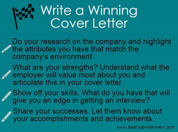 Winning Cover Letter Tips