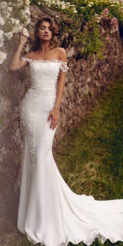 Off The Shoulder Wedding Dresses To See ❤︎ Wedding planning ideas & inspiration. Wedding dresses, decor, and lots more. #weddingideas #wedding #bridal