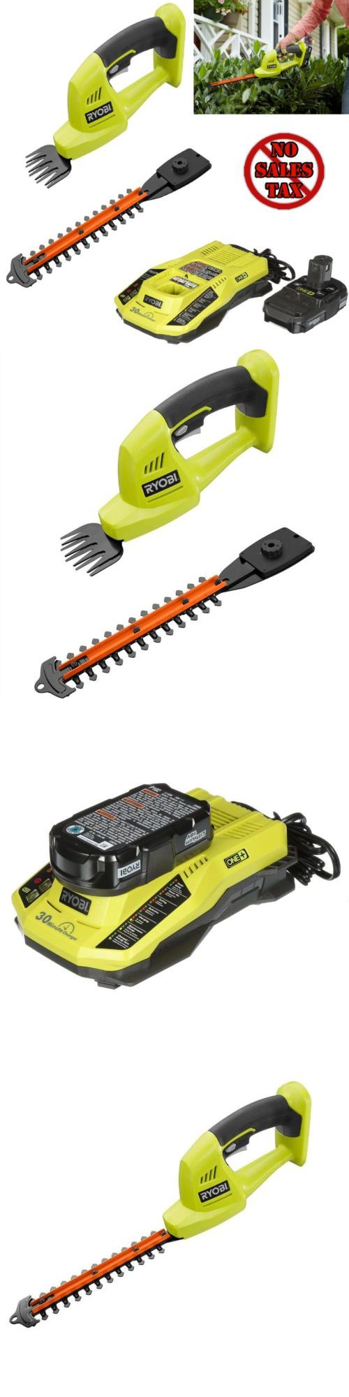 Hedge and Grass Shears 139872: Grass Shears Hedge Trimmer Cordless Ryobi Power Tools Battery Charger 18V 1D -> BUY IT NOW ONLY: $136.93 on eBay!