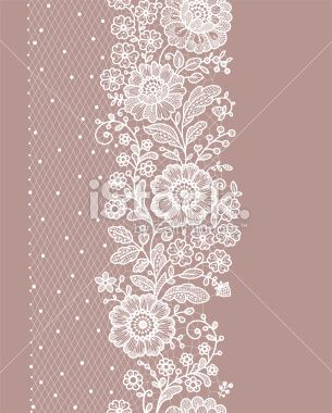 Vertical Seamless pattern lace Royalty Free Stock Vector Art Illustration