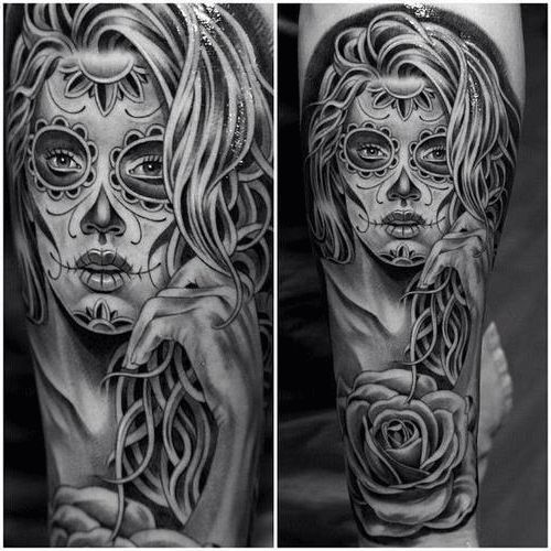 87 best images about tattoos la santa muerte on pinterest. Black Bedroom Furniture Sets. Home Design Ideas