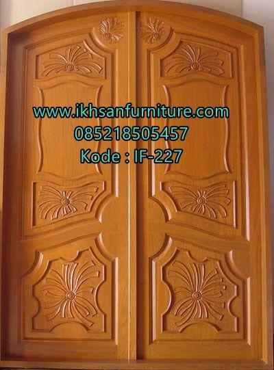 Desain Pintu  Kupu Tarung Lengkung Kayu Jati Model Pintu