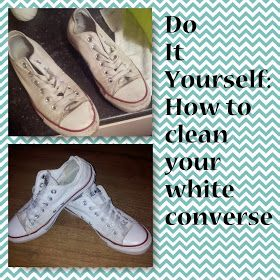 All about Ewii: Do It Yourself: How clean your white converse.