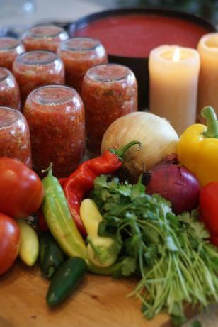 Fresh Homemade Salsa for Canning. Photo by KKleinRN