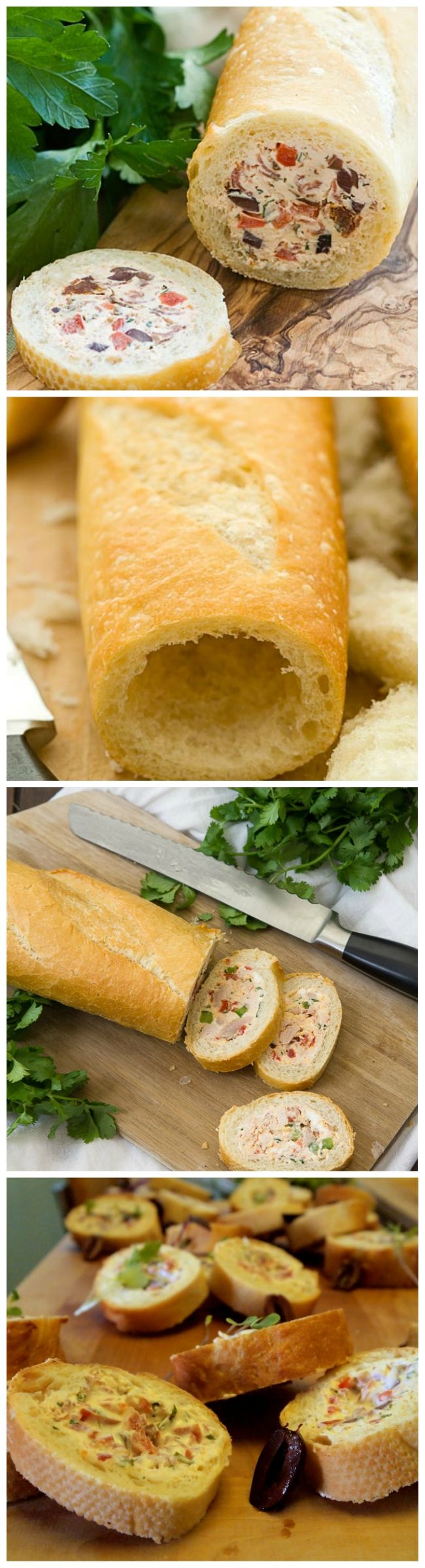 Stuffed Baguette Recipe SUPER IDEE A RÉALISER VERSION VEGETARIENNE