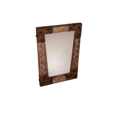 Lies-Sign spiegel oud hout met ijzeren hoeken