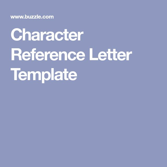 The 25+ best Reference letter ideas on Pinterest Reference - character letter templates