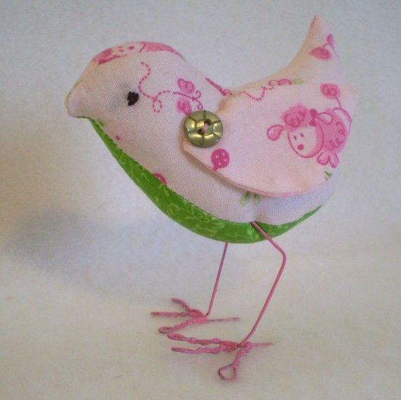 Pink Poodle Print Tweet birdie with wings pink by MarjorieDade, $22.00