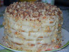 Предлагаю потрясающий торт из творожного теста , который печется на сковороде — это очень просто и вкусно!!! Тесто: 1 яйцо, 200гр. творога, 1 ст. сахара, ванилин, примерно 300гр. муки, 1 ч. л. гаше…