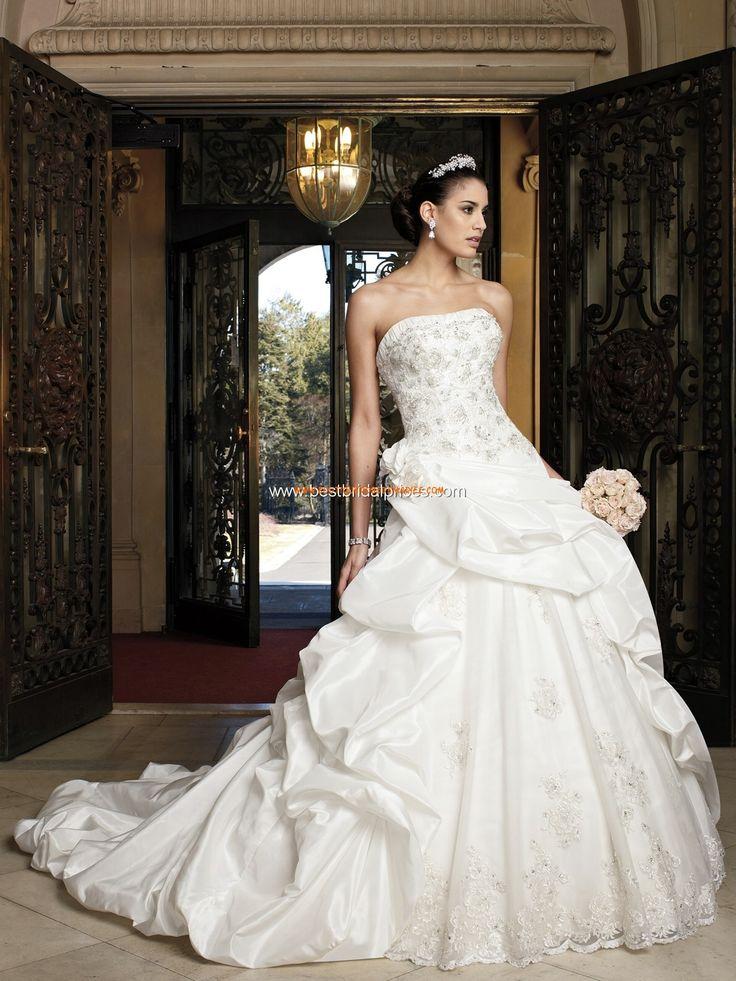 Robe de mariée avec bustier taffetas applications