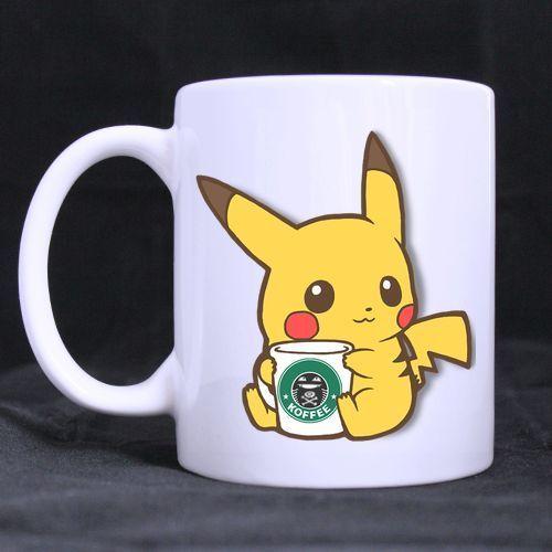 Custom Funny Pikachu coffee Mug 11 Oz Coffee Mug Tea Cup #Generic