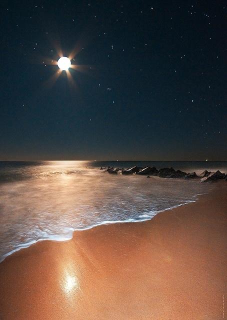 Moonshine, Orion Rising on Vilano Beach, Florida