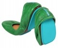 $165 Tieks fold-able Italian leather flats in Clover Green... one day they will be mine!