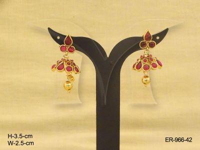 ER-966-42 | PAAN ROND DELICATE DRESS KEMP EARRINGS