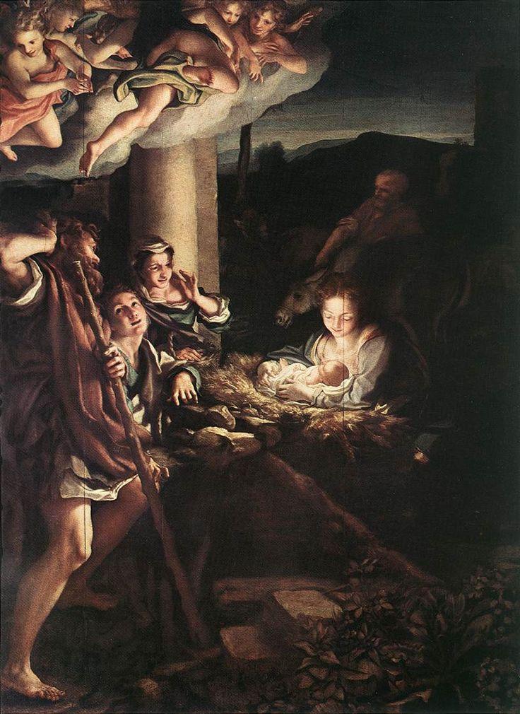 CORREGGIO- Adorazione dei pastori nella notte (1525-30) Olio su tavola @Gemäldegalerie, Dresda