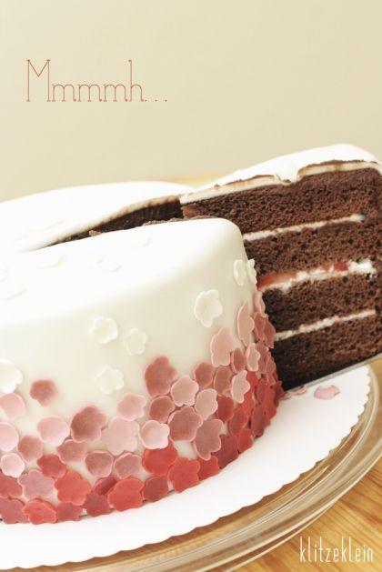 Schoko-Erdbeer-Fondant-Torte