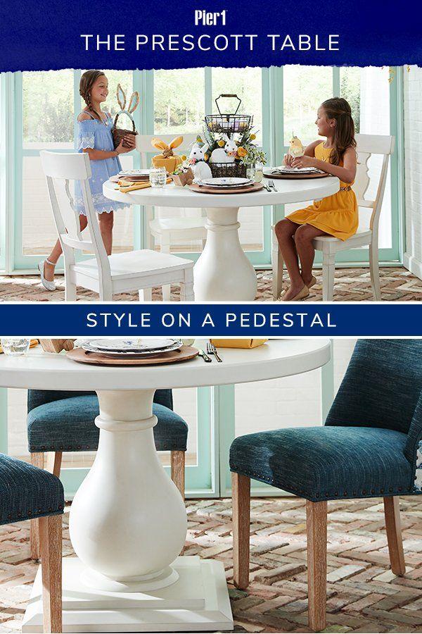 Prescott Pedestal Rain White 48 Dining Table En 2020 Disenos De