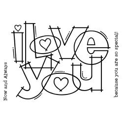 CLEAR STAMPS... Huge Love