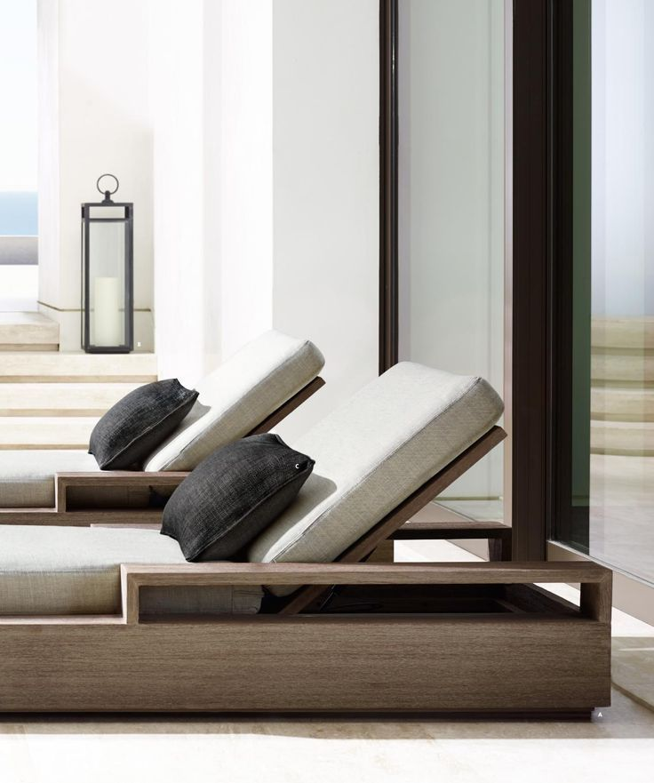 Modern sun loungers #incline #resort #spa #lantern