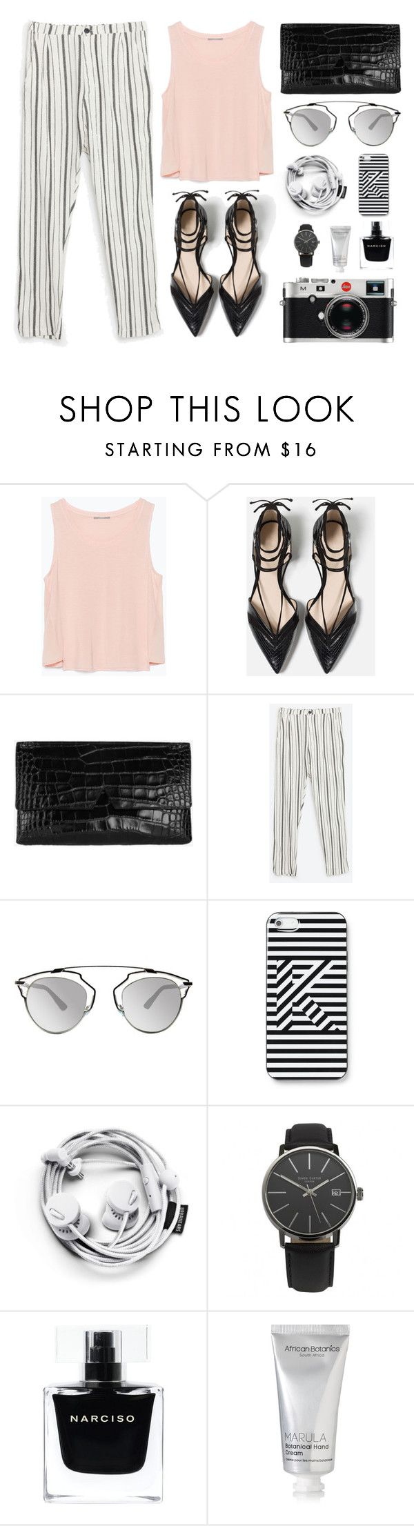 """""""Fashion #9"""" by twtl on Polyvore featuring Zara, Vince, Christian Dior, Kate Spade Saturday, Leica, Narciso Rodriguez, African Botanics, women's clothing, women and female"""