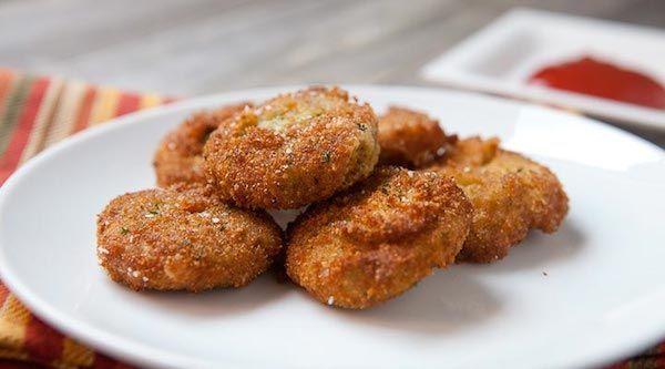 Ricos nuggets de verdura, saludables y vegetarianos. Recetas con verduras para que los peques se animen a probarlas, receta paso a paso de nuggets de verduras