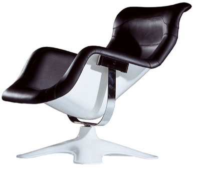 This design classic arm chair by Yrjö Kukkapuro runs the Eames Lounge Chair to a close second I think. Beautiful.