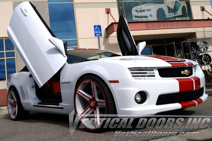 Order the most compatiable, Made and Patented in the USA Lambo doors kit for your Chevrolet Camaro. Shop now, Just visit at http://verticaldoors.com/chevrolet_2010_camaro.html For sales and installation, Call us today at 951.273.1069  #chevrolet #chevy #camaro #Cars #SportsCars #lambodoors #AutoParts #MadeintheUSA #Sale #Installation #SpecialDeals #BestPrice #ShopOnline #VerticalDoors