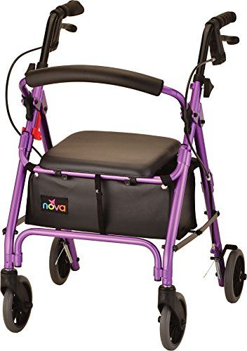 NOVA Medical Products GetGo Petite Rollator Walker, Purple, 13 Pound