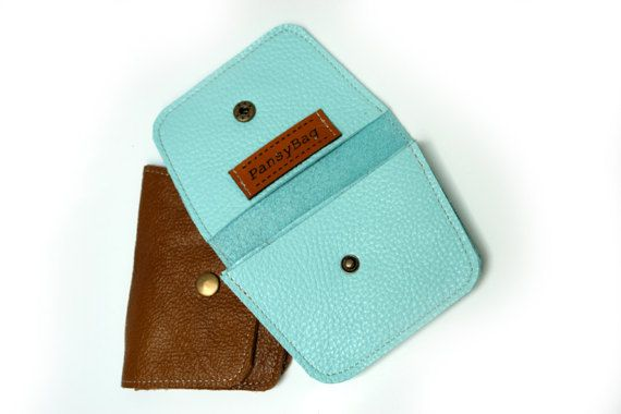 Russet Women's Leather wallet Handmade Wallet Leather by PansyBag