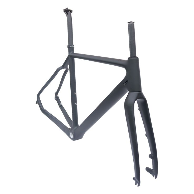 Cyclo-Cross carbon bike frame matt black 51/53/55cm BSA   road bicycle disc frame full carbon frame #Affiliate