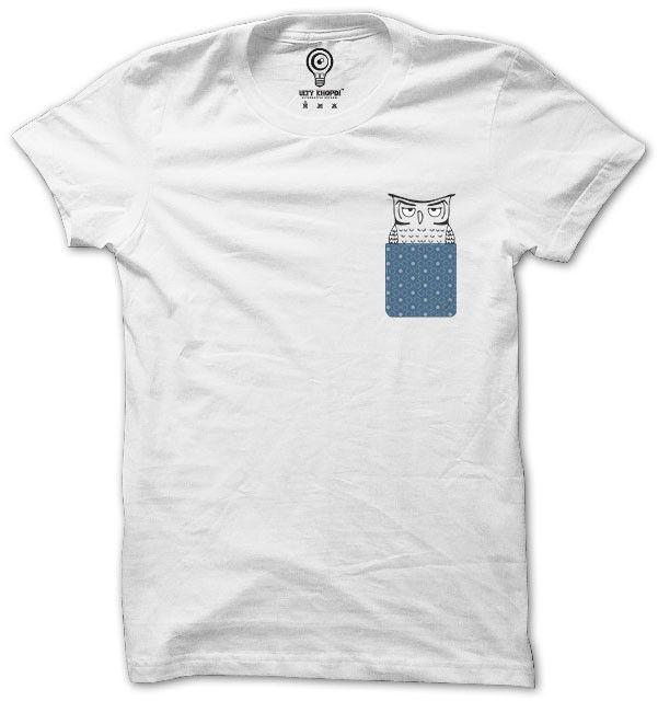 Pocket Owl Tshirts In India Online | Pocket Tees India – ultykhopdi.com