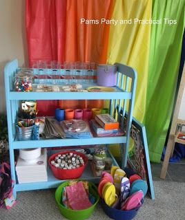 Pams Party & Practical Tips: Changing Table to Party Table