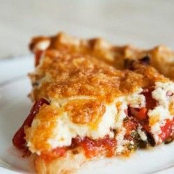 Tomato Pie. Wow this looks so interesting! I don't even know how to feel right now but I want it !