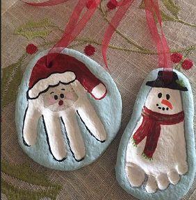 Impronte in pasta di sale natalizie