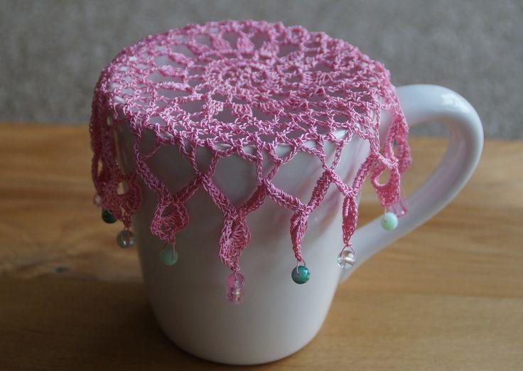 Rose Pink Vintage Inspired Crochet Jug Cover