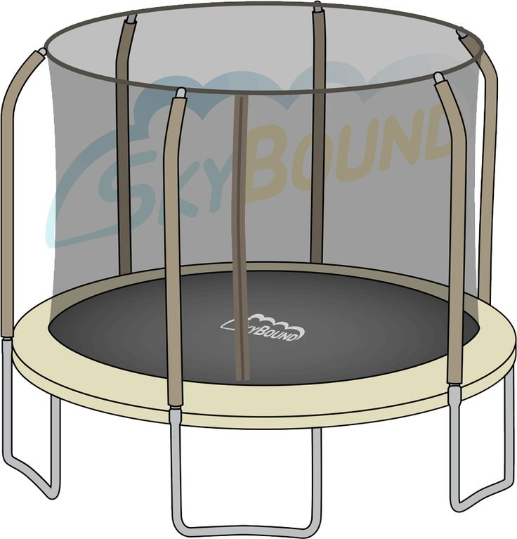 Round Trampoline Frame Parts: 14 Ft. (Frame Size) Round Replacement Trampoline Net For 5