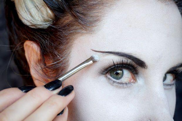 Bride of Frankenstein eye makeup - extended brows