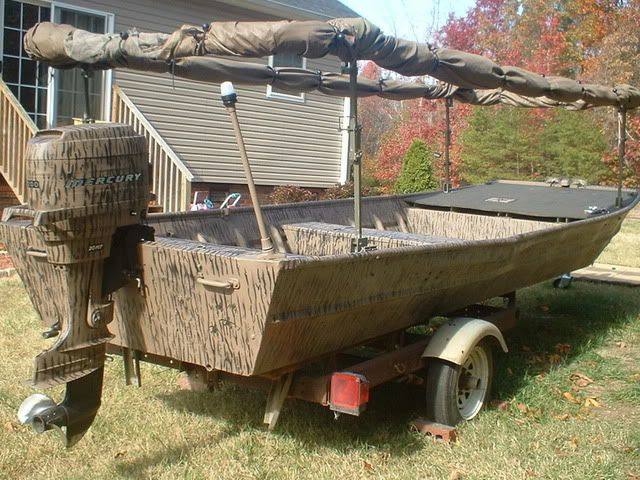 Duck Hunting Boat Blind Plans